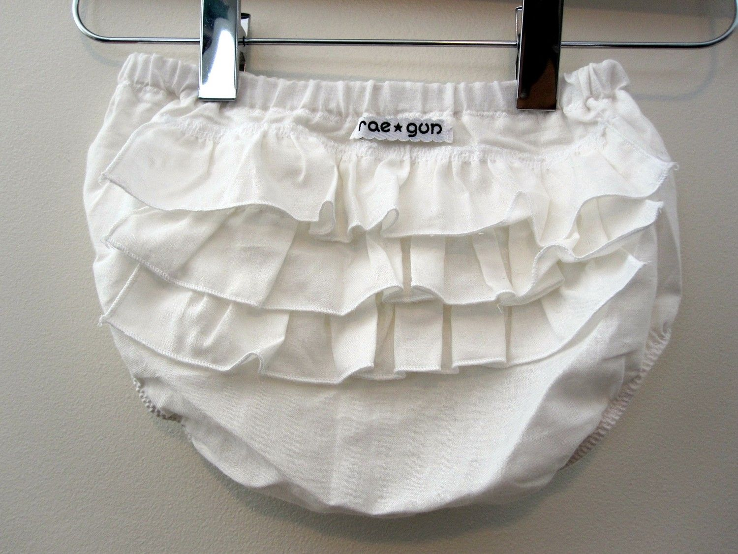 ruffle diaper covers - bloomers - Solid Color -  pick your color - photography prop. $13.50, via Etsy.