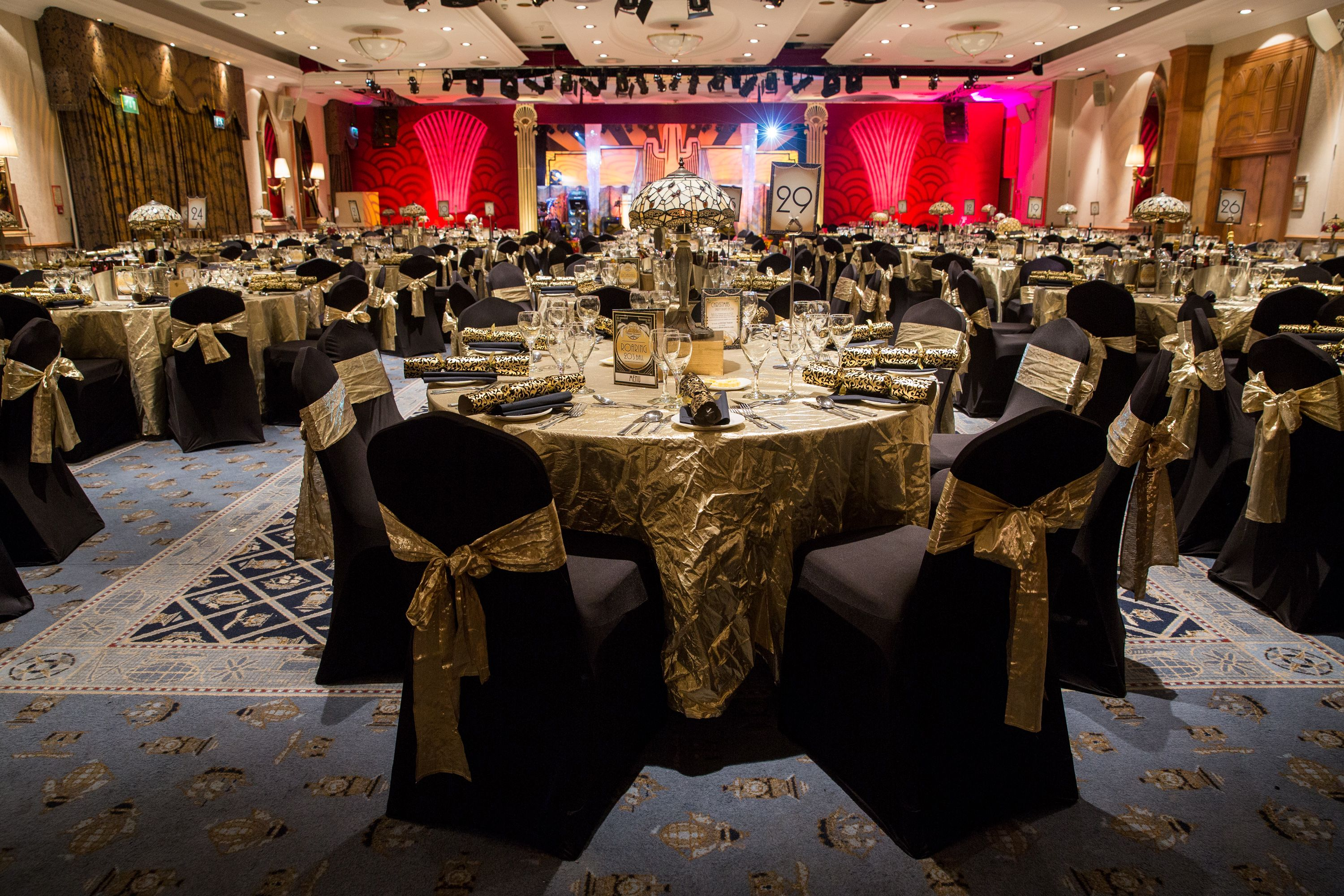 1920 Decor Alton Towers Resort Is Offering Christmas Parties With A 1920s Theme Corporate Christmas Parties Christmas Party Themes Corporate Holiday Party