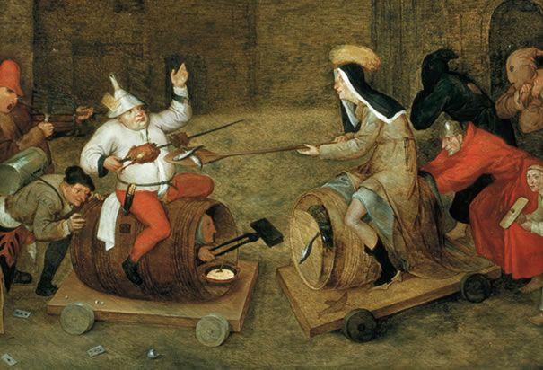 Pieter Bruegel the Elder (1525-1569).  'The Battle between Carnival and Lent', 1559