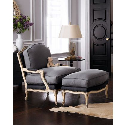 Someday I Will Find A Bergere Chair With An Ottoman So I