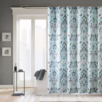 Madison Park Capris Ikat Polyester Shower Curtain
