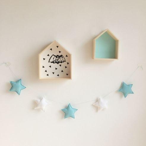 Baby Room Handmade Star Garlands Christmas Kids Nursery Room