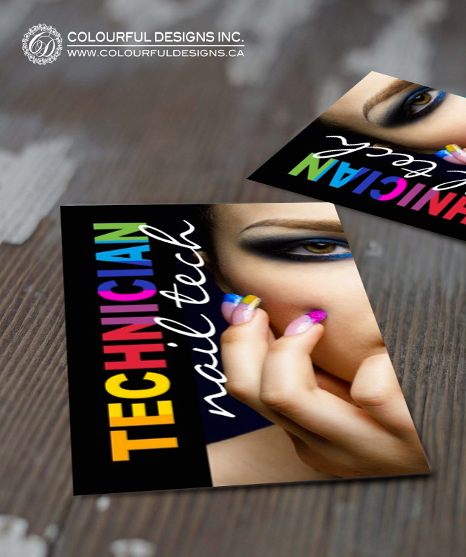 Bold nail technician business card nail technician card templates fully customizable nail technician business card template created by colourful designs inc fbccfo Images