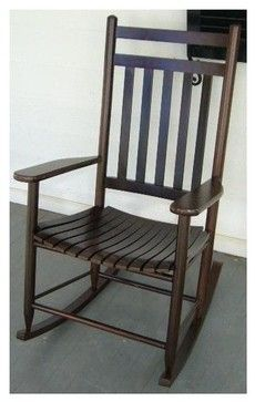 Charmant Slat Porch Adult Rocking Chair (Black) Rustic Rocking Chairs And