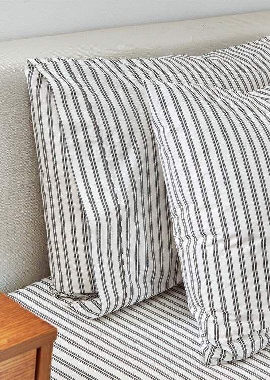 SPLENDID HOME DECOR | Ticking Stripe Standard Pillowcase