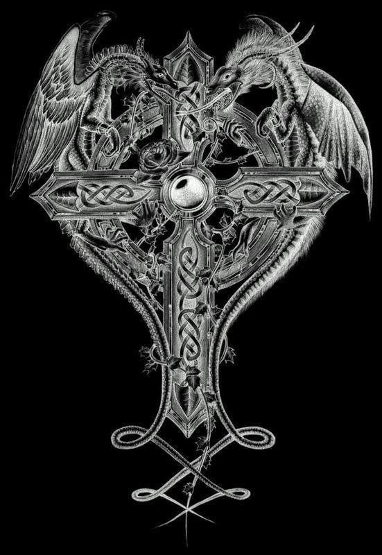 картинка дракон на кресте отвлеклась, потеряла