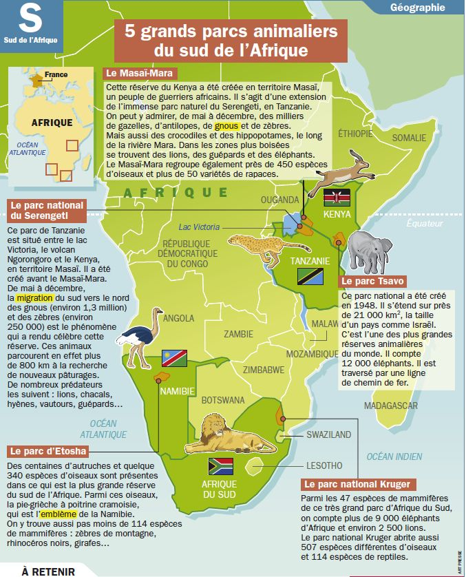 5 Grands Parcs Animaliers Du Sud De L Afrique Geographie Voyage En Afrique Afrique