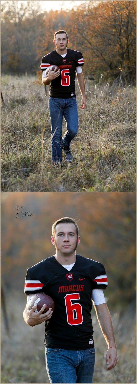Senior Pictures with Baylor's Football's New Kicker