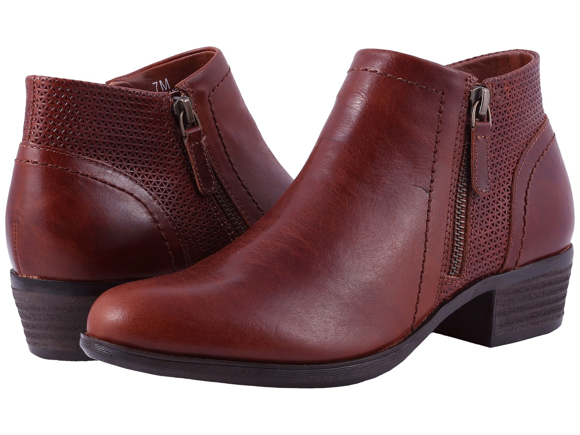 Rockport Cobb Hill Collection Cobb Hill Oliana Panel Boot Women's Shoes  Saddle Pull Up Leather