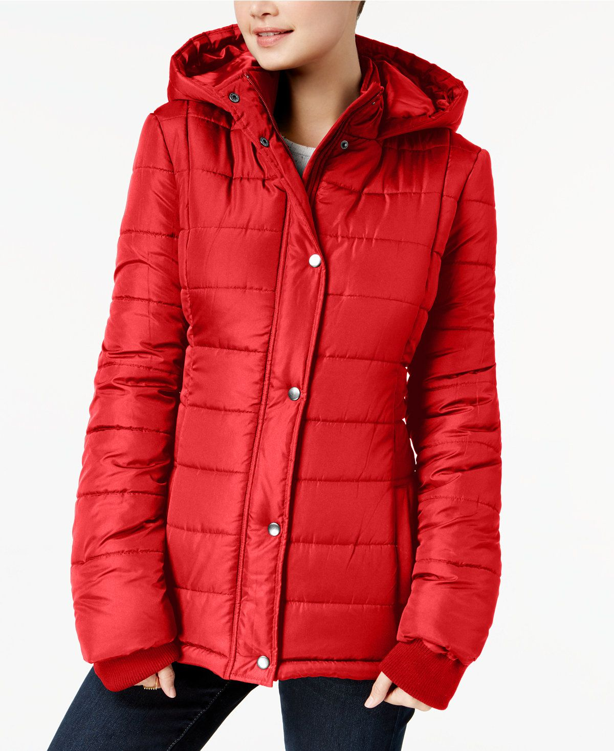 Rampage Juniors Hooded Puffer Coat Created For Macy S Juniors Coats Macy S Puffer Coat Red Puffer Coat Red Hooded Coat [ 1467 x 1200 Pixel ]