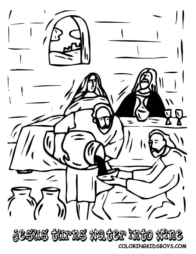 Jesus Turn Water Into Wine Sunday School Pinterest Sunday