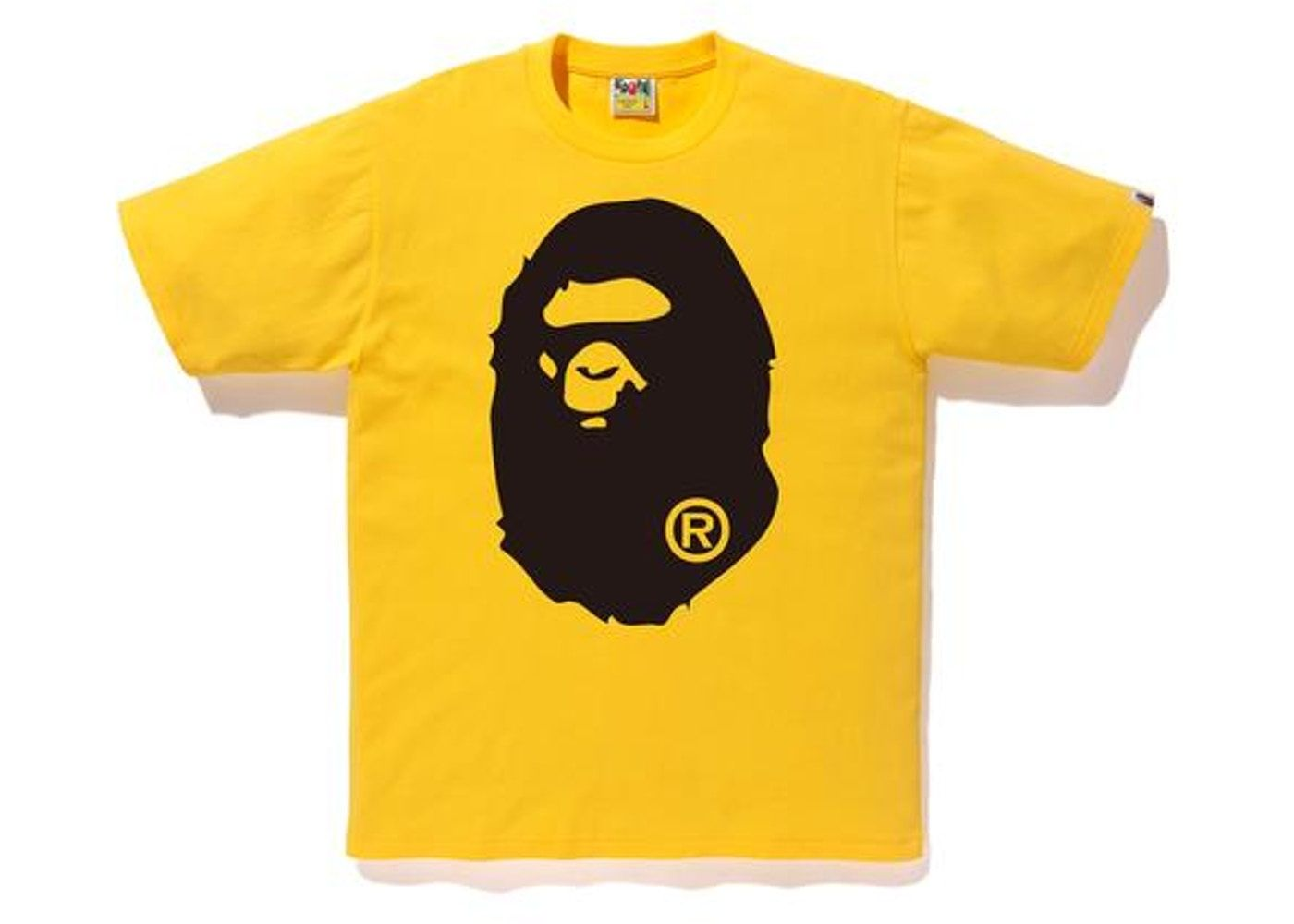 e9bdf18b Bape Bicolor Big Ape Head Tee Yellow/Black | streetwear in 2019 ...
