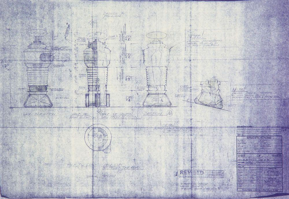 Original studio blueprints for the b9 robot from lost in space original studio blueprints for the b9 robot from lost in space malvernweather Image collections