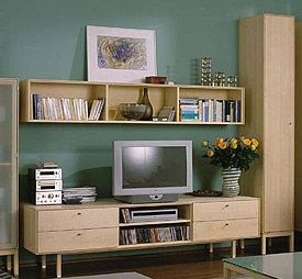 Wall Units Designs, TV Wall Unit, Living Room Wall Unit India ...