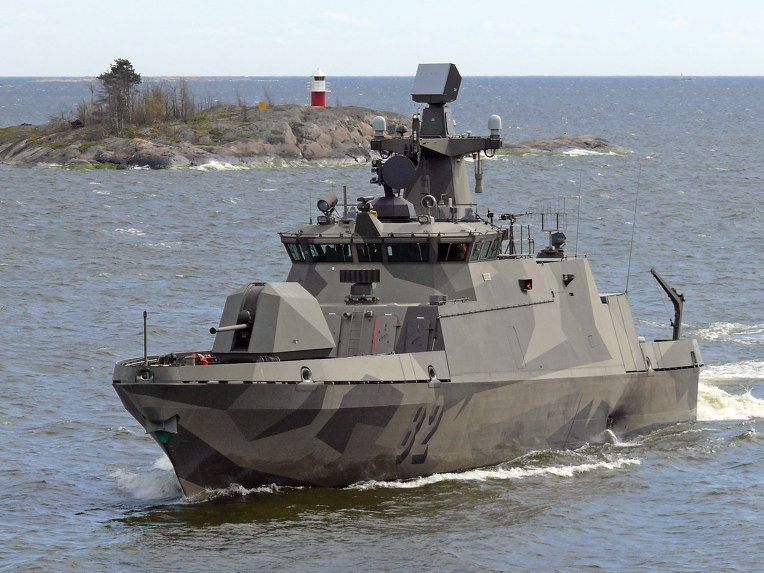 """The Hamina class missile boat is a class of fast attack craft of the Finnish Navy. Technically they are classified as """"missile fast attack craft"""" or ohjusvene, literally """"missile boat"""" in Finnish"""