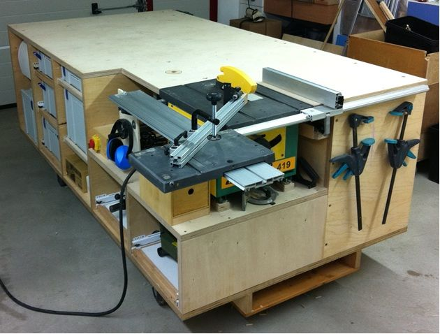 Rolling workbench; systainer port; tablesaw and router ...