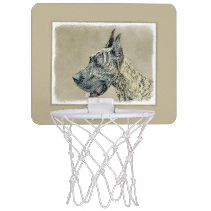 Great Dane Brindle Mini Basketball Backboard Great Dane