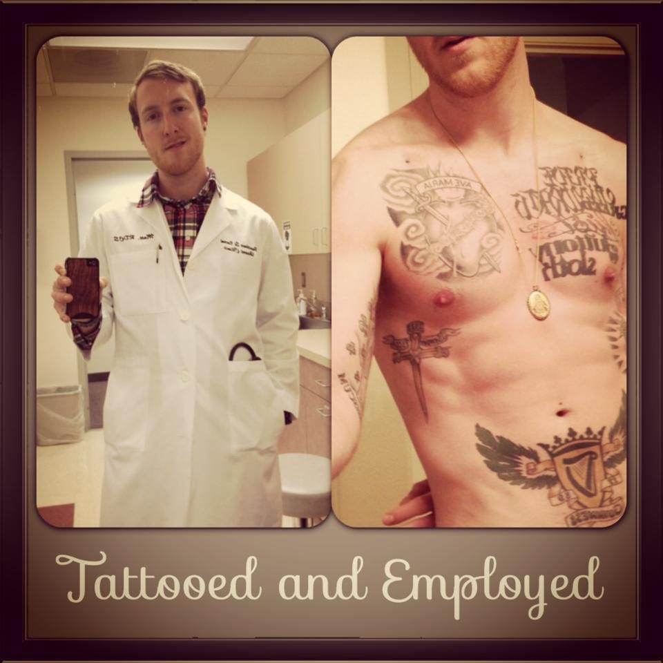 A doctor has a tattoo under his lab coat | Tattoos ...