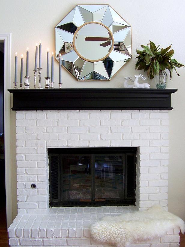 White Brick Fireplace Ideas