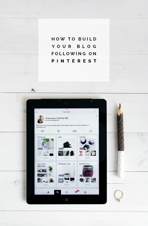 Как создать свой блог, подписанный на Pinterest |  Падение для DIY