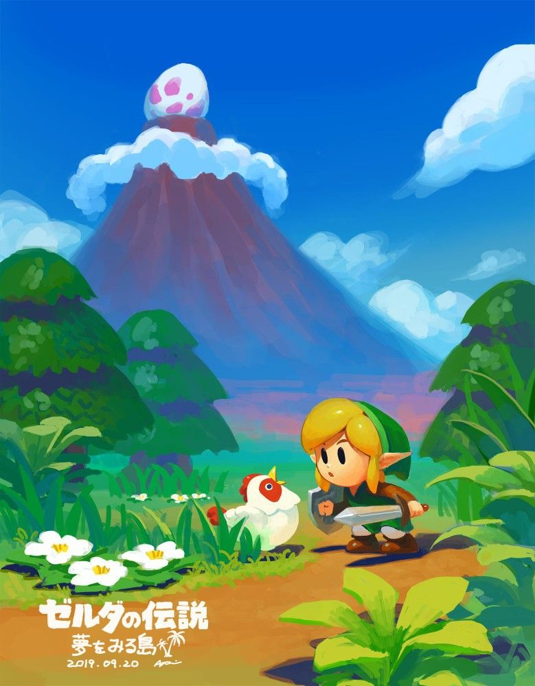 Legend Of Zelda Link S Awakening Remake Art 830890 Legend Of Zelda Legend Of Zelda Breath Zelda Art