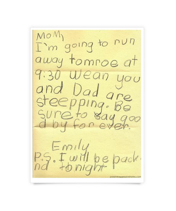 Funny Notes From Little Kids