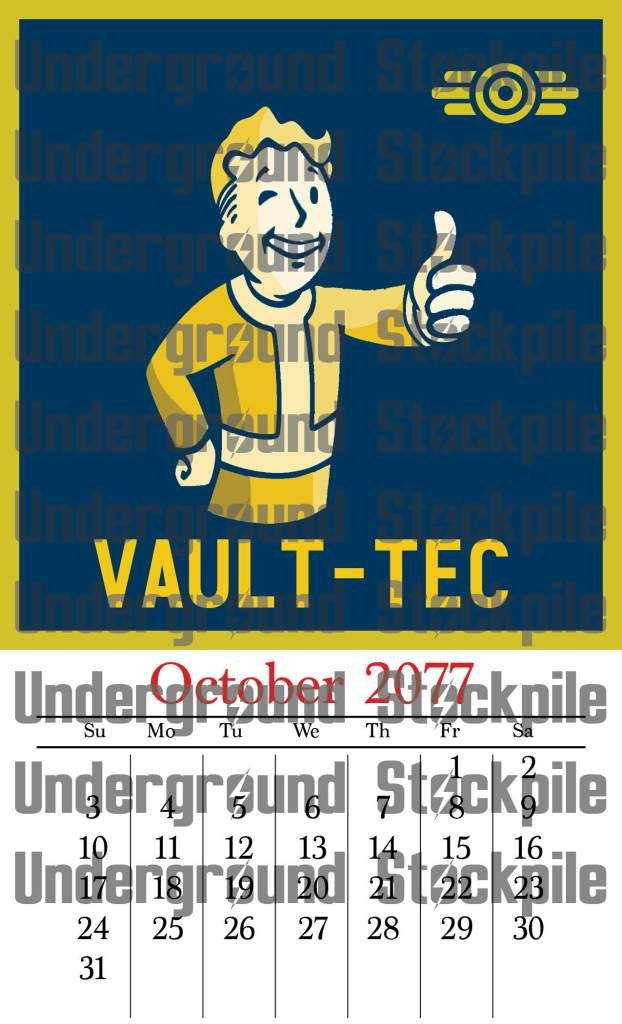 Fallout 4 Vault-Tec Calendar | Fallout Gift Ideas | Fallout, Fallout