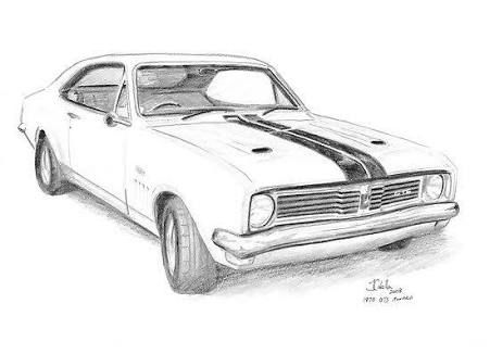 image result for holden monaro drawing