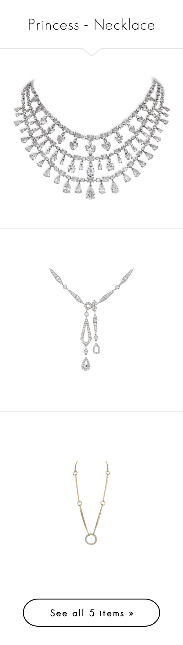 """""""Princess - Necklace"""" by gracebeckett ❤ liked on Polyvore featuring jewelry, necklaces, david morris jewelry, david morris, white gold jewelry, white gold necklace, white gold jewellery, kate middleton, cartier jewellery and cartier necklace"""