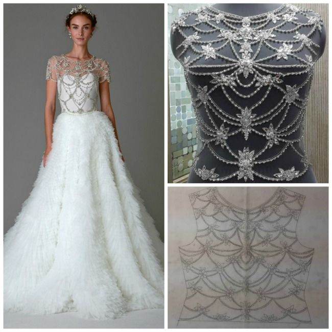 Marchesa FW 2016 Inspired Crystal Custom Bridal Top 3 MARCELLE Embroidered