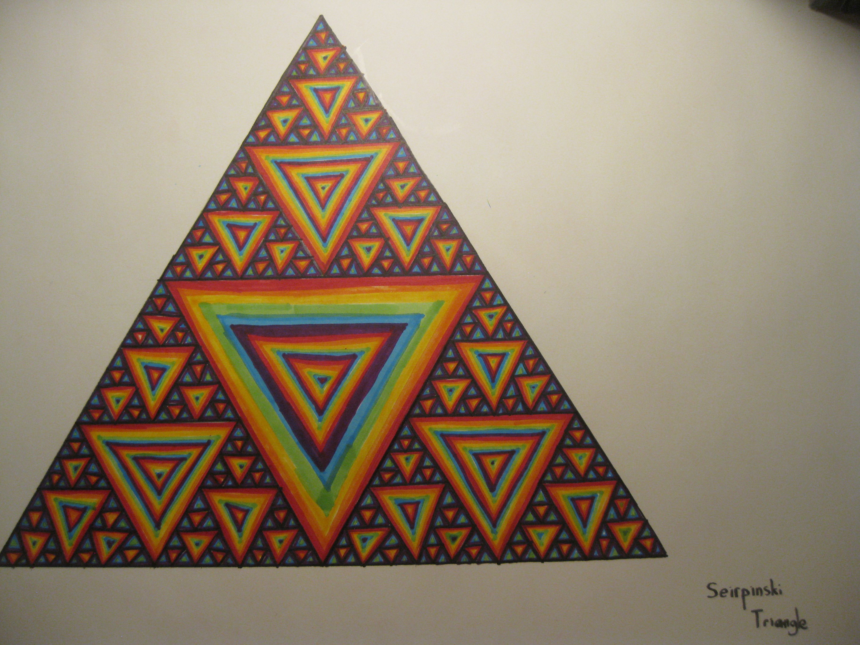 "A fractal called ""the sierpinski triangle"" Triangle art"