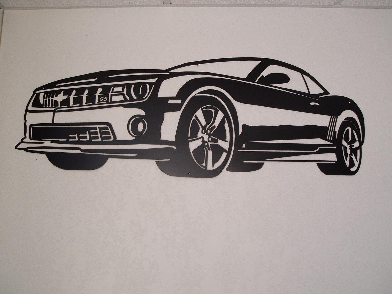 Chevy Camaro Metal Wall Art | Siluetas, Motor y Caricaturas