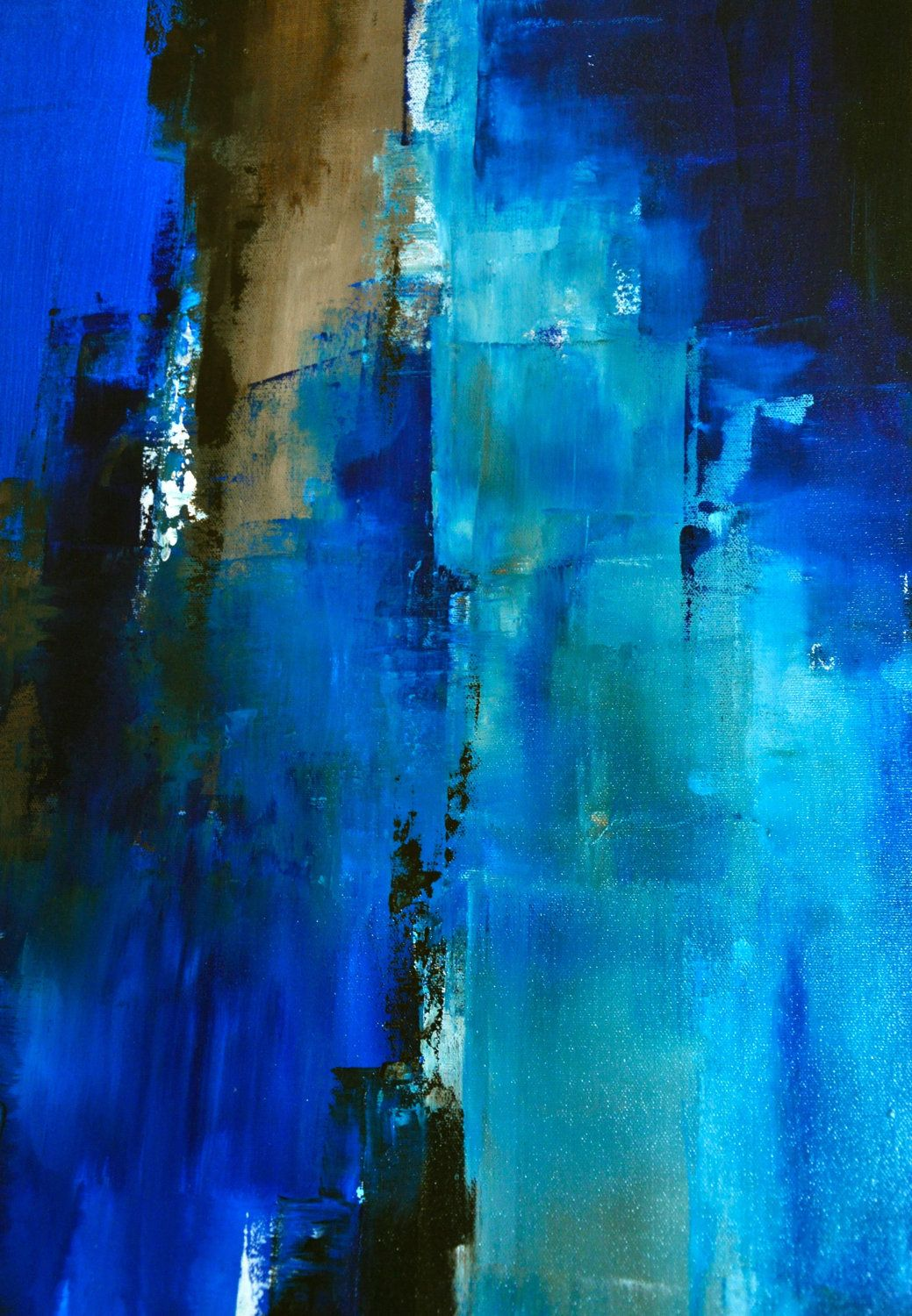 Blue Abstract Art Acrylic Paintings