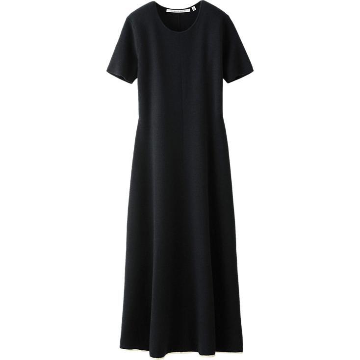 WOMEN LEMAIRE MILANO RIB SHORT SLEEVE LONG DRESS