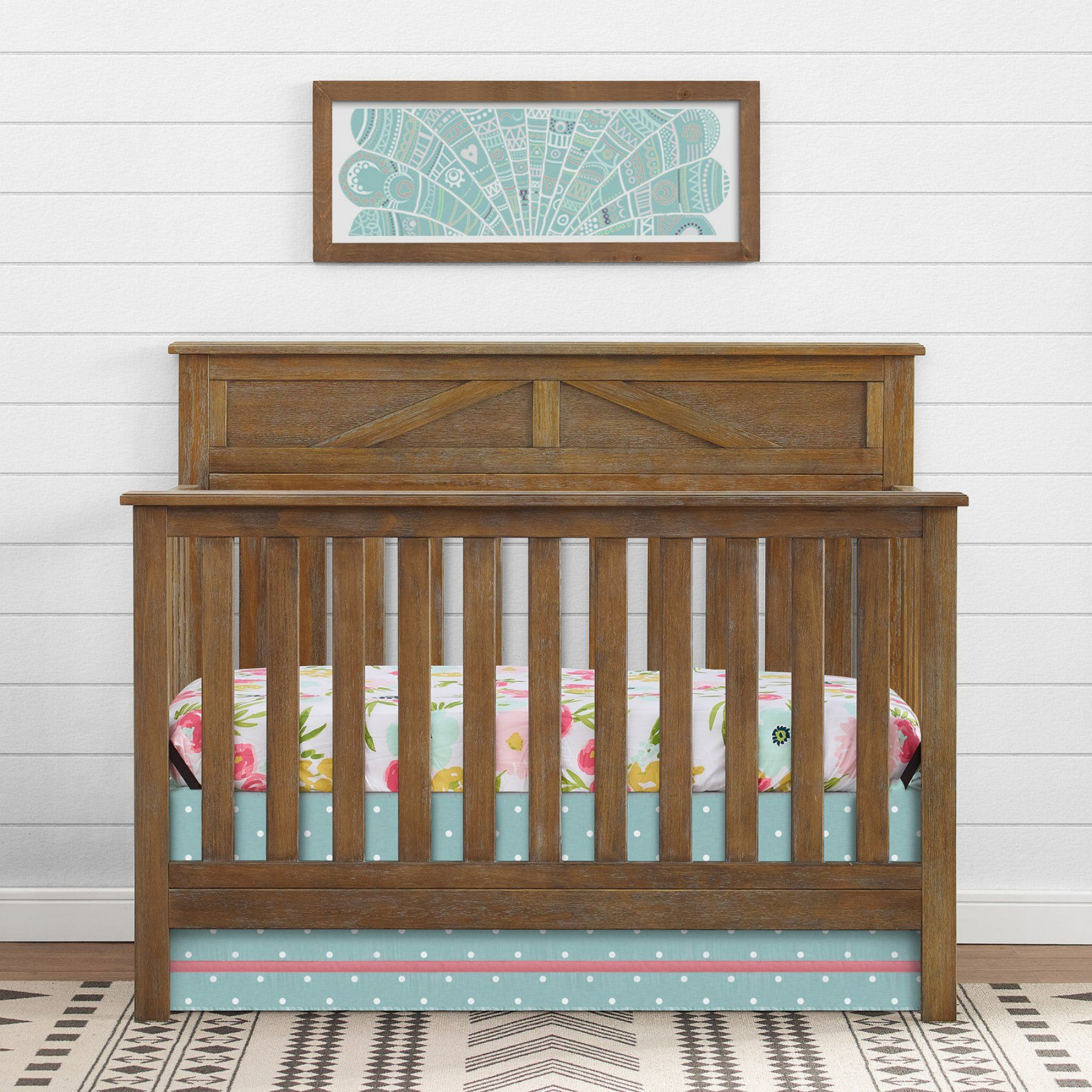 Baby Relax Hathaway 5 In 1 Convertible Crib  Dore335