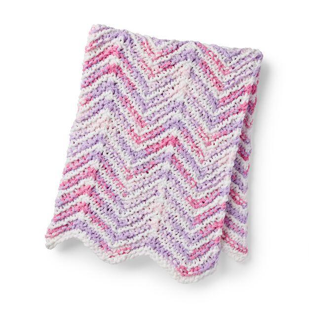Bernat Mini Stripes Knit Baby Blanket in color in 2020 ...
