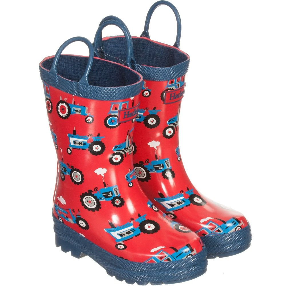 Hatley Boys Red Tractor Rain Boots Kids Fashion Clothes Designer Kids Clothes Boots