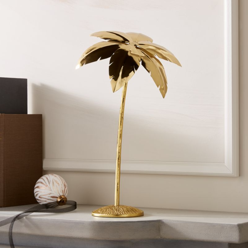 """On sale. Shop Palm Tree Gold 14"""". Traditional firs give ..."""