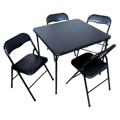 How The Folding Table With Chairs Became A Modern Phenomenon Designalls In 2020 Folding Chair Card Table And Chairs Chair
