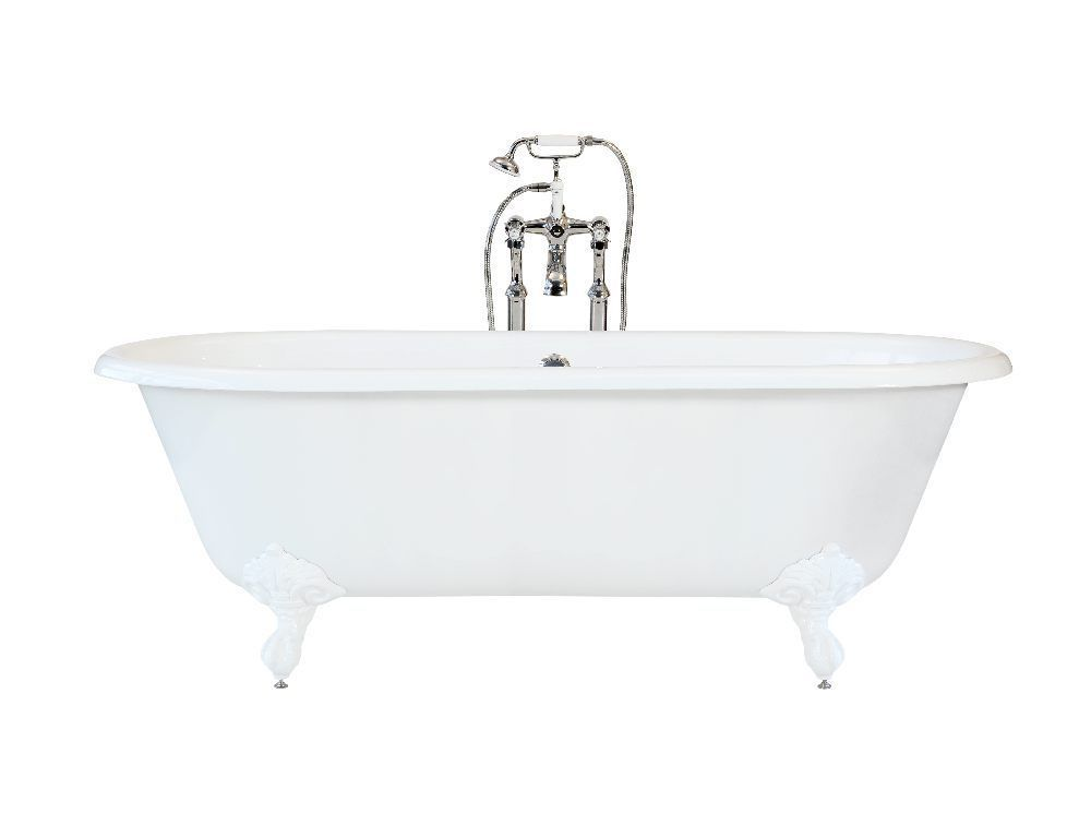 Classic Freestanding Cast Iron Double Ended Bath - Graded (Ref:B72 ...