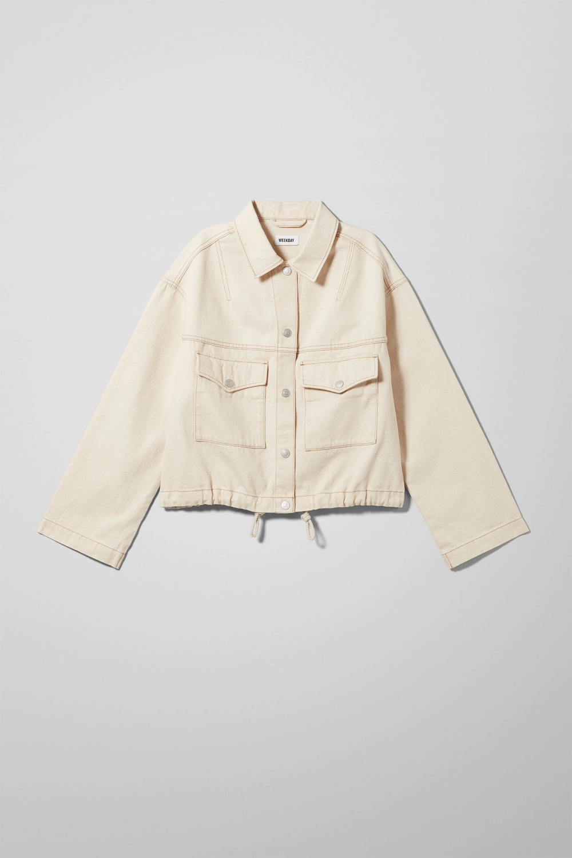 Base Ecru Denim Jacket Beige Jackets | manteau & vestes