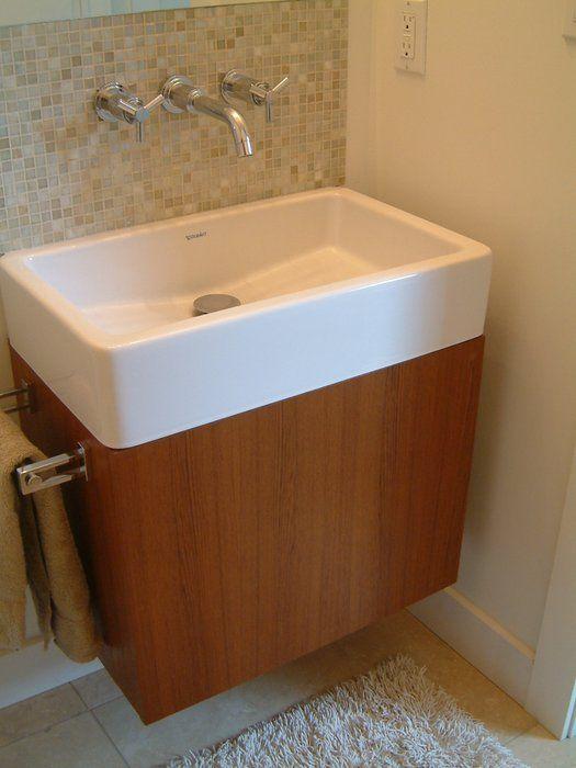 Gordonbuilt Studio Edmonton Ab Canada Bathroom Cabinet Teak With Wall Mounted