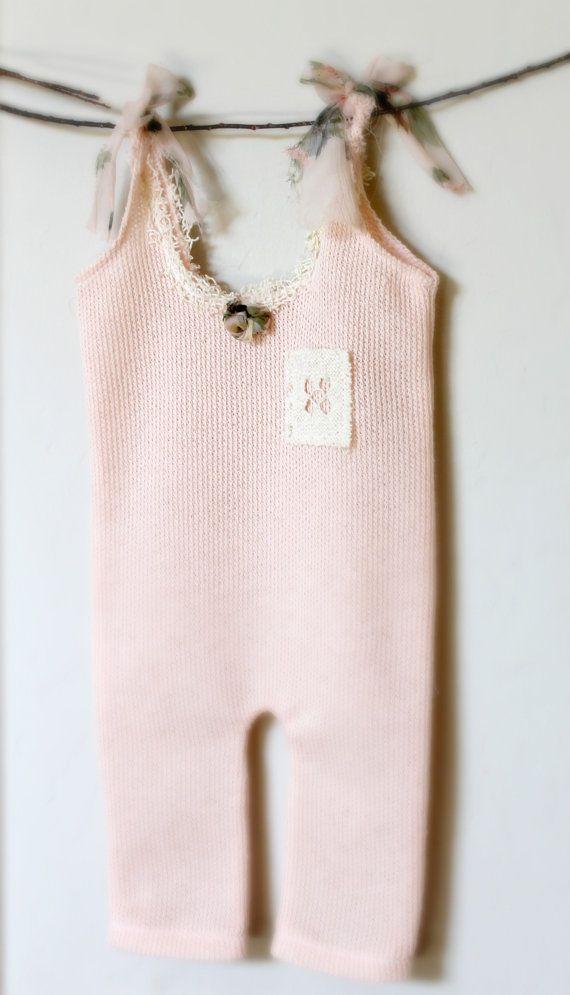 Newborn Peach Vintage Lace Romper   Sugar and Spice Baby Girl ...