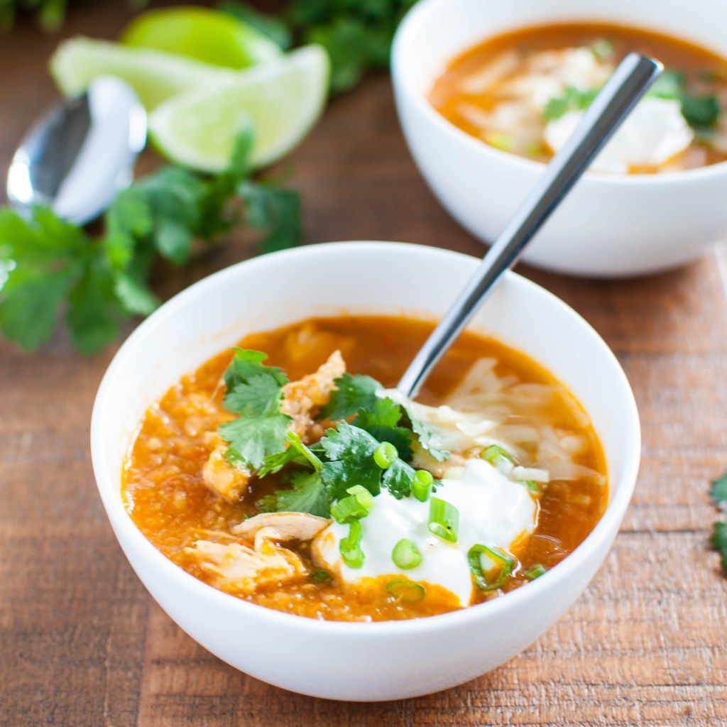 Spicy Chicken Tortilla Soup with Roasted Tomatoes-4