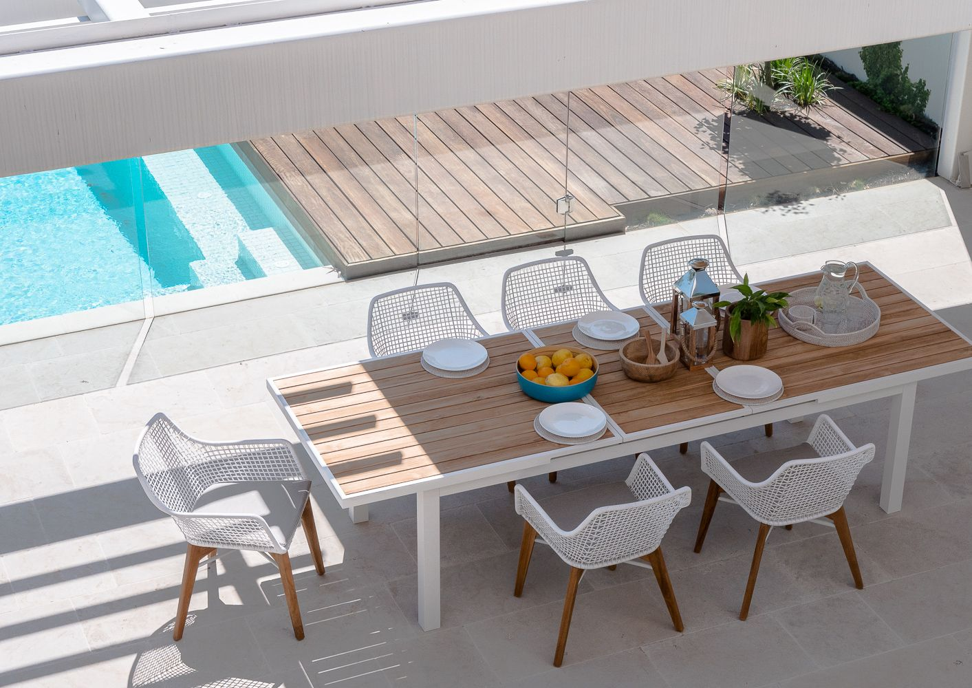 Fdt609 Male Teak Extension Table Outdoor Dining Table Outdoor