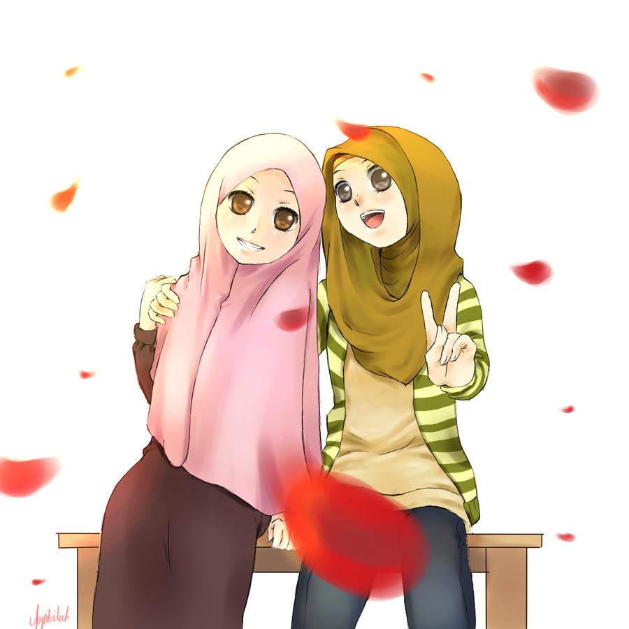 Hijabis by on deviantART