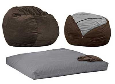 Wondrous Cordaroys Espresso Chenille Bean Bag Chair Full Sleeper Uwap Interior Chair Design Uwaporg