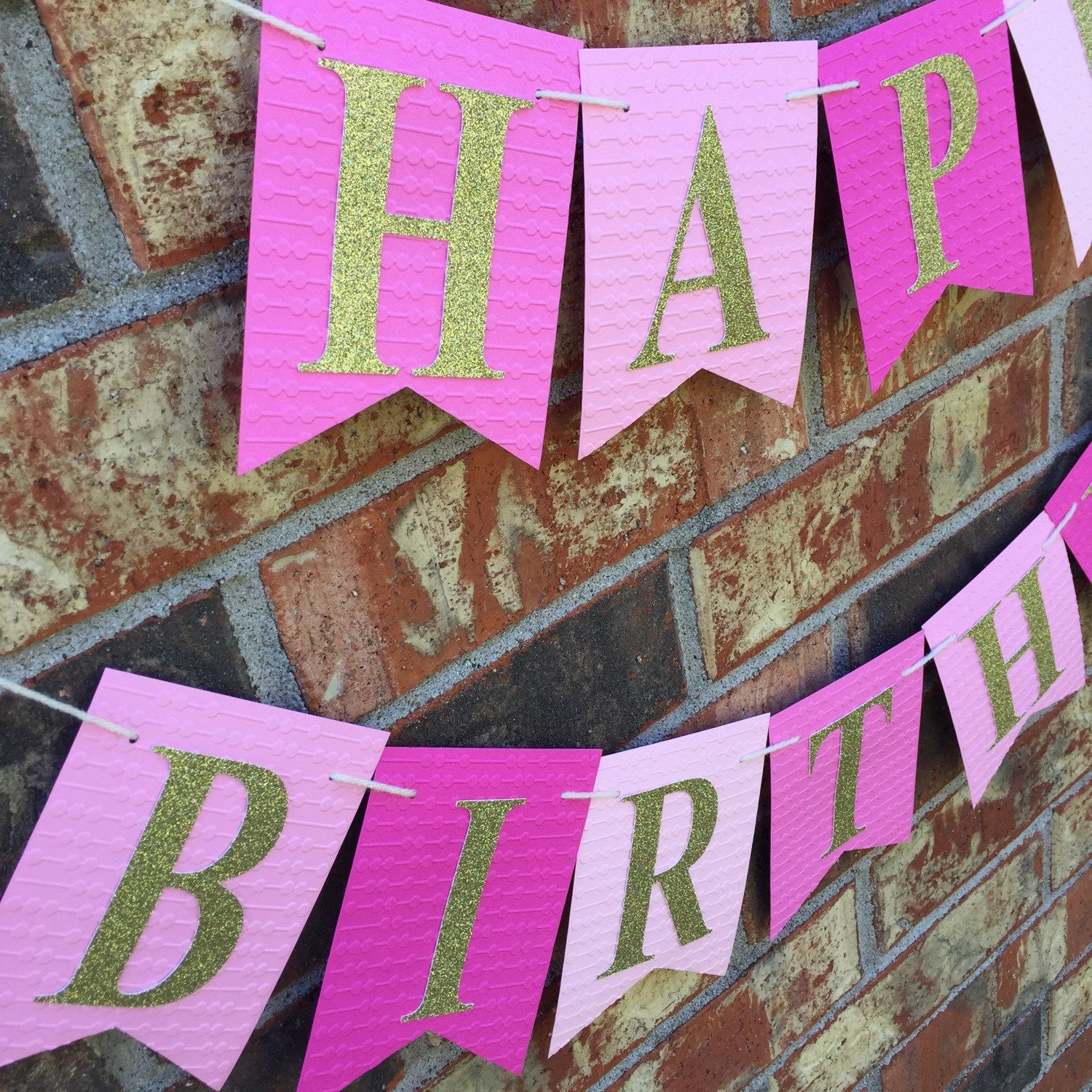 pink birthday banner for your princess birthday made using 110 lb heavy weight card stock