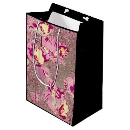 Amazing Glowing Flowers 2b Medium Gift Bag Craft Supplies Diy