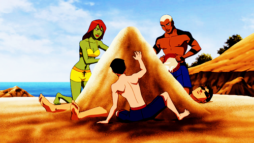 نتیجه تصویری برای young justice Beach gif pinterest